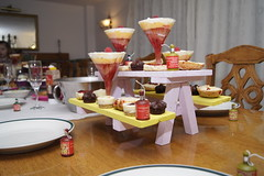 day 44 - afternoon tea (GaryDavidson) Tags: party food cake bench table picnic indoor