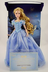 2015 Blue Gown Cinderella Limited Edition 17'' Doll - Disney Store Purchase - Deboxing - Attached to Backing - Full Front View with Certificate of Authenticity (drj1828) Tags: uk blue ball doll royal cinderella gown purchase limitededition disneystore 17inch 2015 deboxing certificateofauthenticity liveactionfilm le4000 disneyfilmcollection