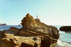 Nica: Rocks (Jordan Ettinger) Tags: ocean sun film 35mm rocks surf shore nicaragua chinon