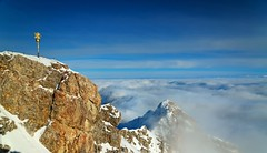 Top of Germany! (S_J_Photography) Tags: winter mountains alps fog clouds germany bayern bavaria nikon nebel peak berge alpen witer zugspitze gipfelkreuz gipfel topofgermany