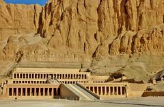 Temple of Hatsheput - Egypt (stevelamb007) Tags: landscape temple ancient nikon desert d70s egypt cliffs vista luxor nileriver deirelbahari hatsheput nilevalley stevelamb templeofhatsheput thebanmountains