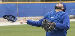 Dioner Navarro, pop-up drill. (LottOnBaseball) Tags: toronto baseball bluejays dunedin navarro jays springtraining mlb dionernavarro