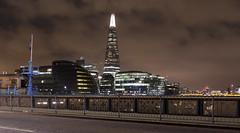 The Shard from Tower Bridge (DncnH) Tags: city bridge london thames night lights nightshot cityhall shard londonatnight shardofglass theshard