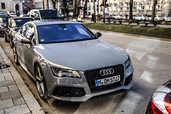 Nardograu (jansupercars) Tags: cars germany munich mnchen bayern automotive spotted audi luxury supercars blacklist carphotography 2015 carporn carpictures sportback rs7 autogespot gtsprit