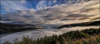 Early fog in the Loch Carron