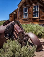 All Fanned Out (David Recht) Tags: broken car down mining bodie