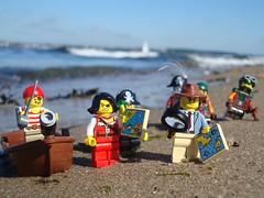Wrong Beach (captain_joe) Tags: toy spielzeug 365toyproject lego minifigure minifig pirat pirate cutlass acebrickman beach wasser water strand kiel hasselfelde