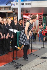 St Pauls College Band and Choir, Queen Street Mall Brisbane, (Photos by Lance) Tags: citysounds brisbanecitybandsfestival stpaulssymphonyandstringsandchoir brisbanecbd brisbanecitymall queenstreet outdoor music performers schoolbands yamaha choir