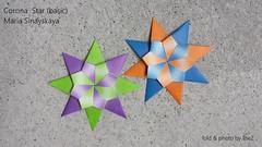 Corona Star by Maria Sinayskaya (esli24) Tags: coronastar mariasinayskaya ilsez esli24 origami origamistar origamistern modularorigami