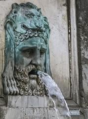 A bronze fountain depicting Hercules wearing the Nemean lion skin in Arles, France (mharrsch) Tags: fountain hercules herakles myth nemeanlion lion roman ancient arles arelate france mharrsch