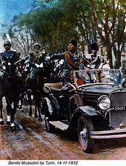 42-16963497 (ngao5) Tags: adults armedforces automobile benitomussolini dictator europe europeans fascism fascist fascistparty government governmentofficial group handcoloredphotographicprint horse italians italy leader males mammal manipulatedphotography men middleaged middleagedman military militaryleader militaryofficer militaryparade militarypersonnel militia miliziavoluntariaperlasicurezzanazionale motorvehicle parade people piedmont politicalleader politicalparties politicalparty prominentpersons torinoprovince turin vehicle warandmilitary whites