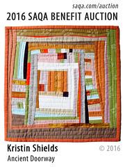Ancient Doorway by Kristin Shields (saqaart) Tags: artquilts saqa fiberart quilts textiles artwork stitched layered