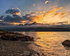 Splashy Sunrise (Phil's Pixels) Tags: ocean alaska sunrise dawn bay waves seward daybreak sewardbay
