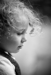 Portrait of Eilish (James C. Aiken Photography) Tags: portrait blackandwhite cute love beauty daughter young curls wish distance 2yearsold eilish