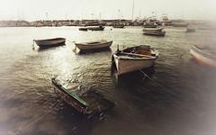 Boats... (hobbit68) Tags: sky andalucia meer sonnenschein clouds wasser wolken sommer alt beach spanien ufer himmel strand urlaub espana outdoor canon verfallen boats kste old boote holiday hafen ozean sonne