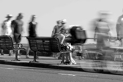 Pokemon ghosts (Andrew Malbon) Tags: portsmouth pompey southsea southseacommon southcoast south strongisland street streetphotography pokemon pokemongo ghosts nd ghost canon g1x powershotg1xmark2 bw blackwhite blur movement seaside seafront people