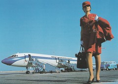 MALEV Hungarian Airlines stewardess with TU-154 in the background (MALEV photo) (KristofCs) Tags: stewardess malv malev tu154 ty154 ferihegy lgikisasszony tupolev malevphoto aviation archives airplane hungary hungarian airlines malvarchv utasksr letkp adv advertisement malvreklm airport aeropuerto flughafen glamour girl airgirl retro