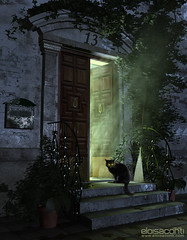 CGI exterior visualization (Eloisa Conti) Tags: 3d 3dvisualization architecture artist architectural art architect cinema4d cgart cg cgi day exterior fog generalist lightning light morning postproduction photomontage render rendering style night fairy witch cat balck evil smoke