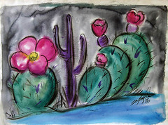 Its a gorgeous day in the Old Pueblo! (DeGrazia Gallery in the Sun) Tags: teddegrazia degrazia artist ettore ted nationalhistoricdistrict galleryinthesun artgallery gallery nonprofit foundation adobe architecture tucson arizona az santacatalinas desert cactus flowers blooms oldpueblo southwest watercolor painitng