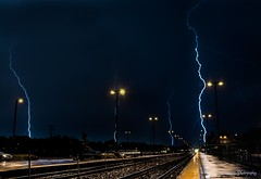 hell's fury (skeem125) Tags: lightning storms weather mothernature blue railroad