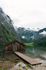 DSC_3619 (svetlana.koshchy) Tags: berchtesgaden germany bavaria lake obersee bayern mountains alpen boathouse reflection alps berchtesgadener land