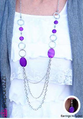 Glimpse of Malibu Purple Necklace K3 P2430-1