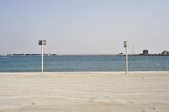 Drifted Apart (Crausby FRSA) Tags: sea signs beach coast seaside nikon contemporary empty uae middleeast nobody rak unitedarabemirates emptiness marjan rasalkhaimah tumblr marjanisland lensblr photographersontumblr