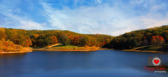 LONE ELK PARK LAKE (Photography by Peggy Franz) Tags: park autumn trees lake water landscape trails lone elk waterreflection naturephotography landscapephotography autumcolors loneelkpark trailshiking missouriparks