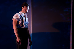 """Samuel Pergande (Johnny) in the Broadway Sacramento presentation of """"Dirty Dancing – The Classic Story On"""" Stage at the Sacramento Community Center Theater Dec. 26, 2014 – Jan. 4, 2015. Photo by Matthew Murphy."""