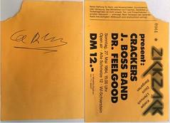 Lee Brilleaux Autogramm (jomaot) Tags: drfeelgood ticket autograph jomaot autogramm leebrilleaux konzert concert 1984 zickzack crackers jbossband schierstein wiesbaden