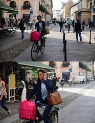 [La Mia Citt][Pedala] (Urca) Tags: portrait bike bicycle italia milano ciclista mir bicicletta 2014 pedalare 7033 dittico nikondigitale ritrattostradale