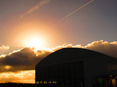 The Concorde Hanger , Manchester Airport (Gary Chatterton 3 million Views Thank You All) Tags: sunset sun manchester flickr concorde exploreinterestingness hanger manchesterairport exploreinteresting aviationaward
