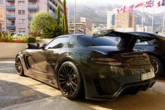 M for Monster (GtCh) Tags: black car monster mercedes automobile noir voiture monaco modified carbon fairmount custom supercar sls amg noire 2014 bodykit carbone mansory cormeum