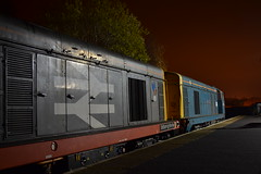 Barrow Hill Night Shoot (DM47744) Tags: railroad red sea english heritage electric by night photography 1 chopper shoot hill stripe rail railway loco class rails type locomotive 20 railways barrow locomotives saltburn roundhouse the 20096 20118 railfreight wnxx