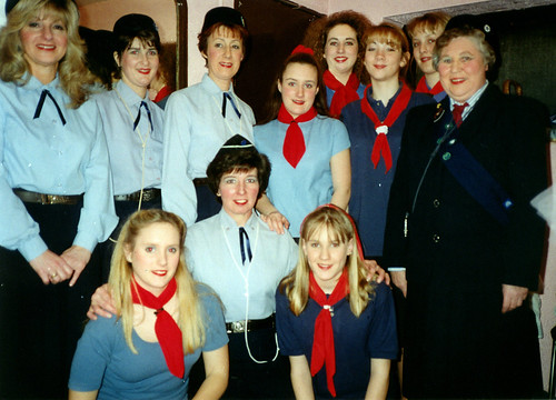 1996 Snow White and the seven dwarfs 07 (back from left x, Sally Capp, Linda Ellis, x,x,x,x,Rita Hampton, front x,Pauline Milner