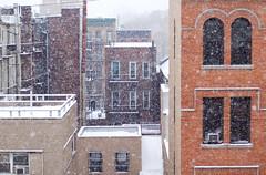 March Snow (Ste.Baz) Tags: city newyorkcity winter snow brick snowflakes manhattan hiver nieve ciudad invierno neige ville nuevayork oldbrickbuildings batisses