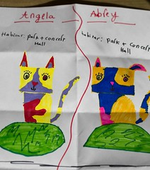 3.3.2015 - The Doublecats (Pittypomm) Tags: cat design drawing inspired colourful angela aubrey catland doubleclicks