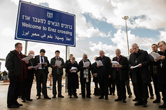 Morning Prayer at Erez Crossing (Catholic Church (England and Wales)) Tags: morning for waiting crossing prayer go bishops permission erez gaza