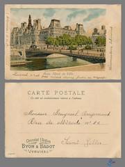 PARIS - Hotel de Ville (bDom) Tags: paris 1900 oldpostcard cartepostale bdom