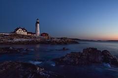 No sea smoke... (Laurie Vezina) Tags: ocean sky water sunrise portland coast rocks waves maine atlantic portlandheadlight eastcoast laurievezina