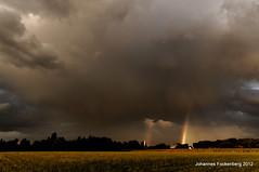 Unwetter über St. Johannes Kirchhellen (grafenhans) Tags: sony natur kirche himmel 55 tamron landschaft slt regenbogen farben unwetter stjohannes kirchhellen 281750 slt55