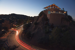 (edmondburnett) Tags: california longexposure la losangeles dusk hills hollywood lighttrails mansion conquerla