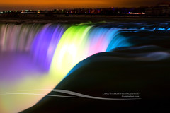 Horseshoe Falls at Night - Niagara Falls, Ontario Canada (Craig - S) Tags: park city longexposure blue light panorama mist holiday newyork ontario canada fall tourism nature water beautiful yellow misty night america river wonder landscape niagarafalls waterfall buffalo rocks honeymoon cityscape power view purple natural outdoor stones side scenic dramatic tourist canadian niagara spray nighttime american foam destination romantic horseshoe horseshoefalls