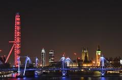 Thames (Jamie Barras) Tags: uk bridge sky london thames architecture night river photography lights neon january bigben clear nightscene afterdark 2015