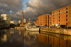 Sunset at the Albert Dock (Steev McAlister) Tags: uk greatbritain sunset ecology liverpool europe britishisles unitedkingdom britain environment british environmentalism albertdock ecosystem merseyside