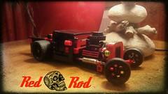 Red Rod (Veldranester) Tags: hot car vintage lego rats rod
