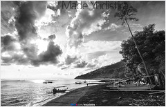 Fisherman Life - B/W version (Bali Based Freelance Photographer and Photo Stocks) Tags: life people bali nature beauty canon indonesia eos photo foto stock culture daily cultural alam budaya balinese culturalevent myudistira madeyudistira myudistiraphotography