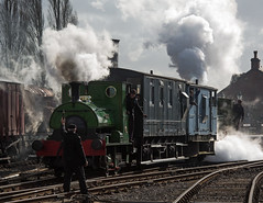 CHASEWATER WINTER GALA (norman-bates) Tags: teddy steam yorktown locomotive 1941 2012 steamlocomotive chasewater brownhills peckett