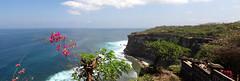 View from Uluwatu Temple (Pura Luhur Uluwatu) (boeckli) Tags: ocean bali panorama water indonesia temple view outdoor uluwatu aussicht benoa beautyofwater benoabali