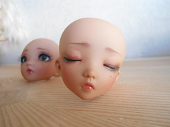Face-ups (~Akara~) Tags: sleeping face up ball doll skin little tan faceplate fairy sp mio land bjd fl custom fairyland ts fee jointed ltf faceup littlefee